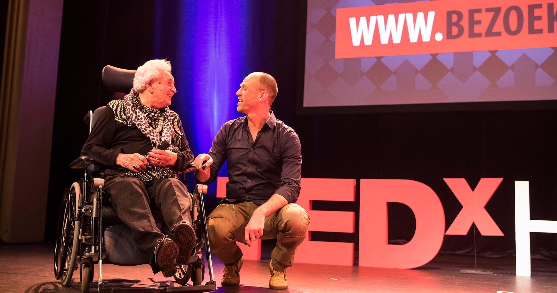 Edward Molkenboer en mevrouw van Huis bij TedXHaarlem