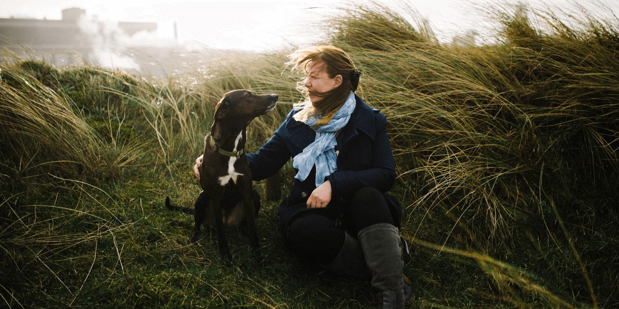 Heleen en hond Marietje
